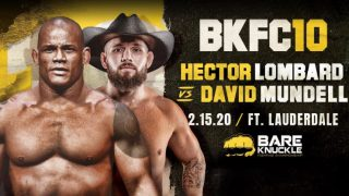 Bare Knuckle FC BKFC 10 Lombard vs. Mundell 2/15/2020