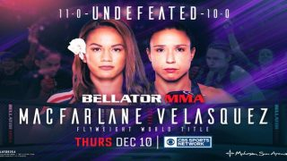 Watch Bellator 254: Macfarlane vs Velasquez 12/10/20 – 10 December 2020