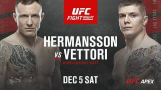 Watch UFC Fight Night: Hermansson vs Vettori 12/5/20 – 5 December 2020