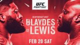 Watch UFC Fight Night: Blaydes vs Lewis 2/20/21 – 20 February 2021