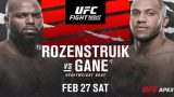 Watch UFC Fight Night: Rozenstruik vs Gane 2/27/21 – 27 February 2021