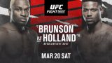 Watch UFC Fight Night: Brunson vs Holland 3/20/21 – 20 March 2021