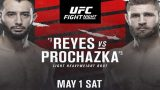 Watch UFC Fight Night: Reyes Vs Prochazaka 5/1/21 – 1 May 2021
